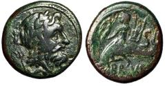 "Ancient Coins - Calabria (Italy), Brundisium AE20 ""Neptune, Nike & Trident / Taras on Dolphin"""