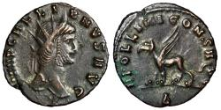 "Ancient Coins - Gallienus Antoninianus Zoo Series ""Gryphon, Griffin"" RIC 165 Near EF"