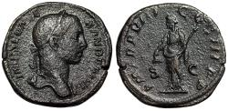 "Ancient Coins - Severus Alexander AE Sestertius ""Liberalitas With Pileus"" Rome 229 AD nVF"