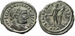 "Ancient Coins - Diocletian Follis ""GENIO POPVLI ROMANI Genius"" Heraclea RIC 17a VF Desert Patina"