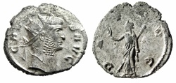 "Ancient Coins - Gallienus Silvered Antoninianus ""PAX AVG Peace"" Siscia RIC 499 About VF"