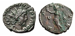 "Ancient Coins - Victorinus AE Antoninianus ""PAX AVG Peace"" Cologne Mint 268-271 AD RIC 118 VF"