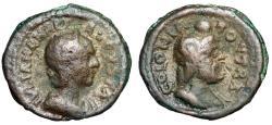 "Ancient Coins - Julia Mamaea AE21 of Bostra, Petraea ""Zeus-Serapis Wearing Solar Disc"" Good Fine"