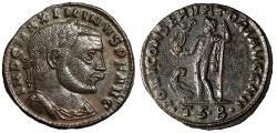 "Ancient Coins - Maximinus II Daia AE Follis ""Jupiter, Eagle"" Thessalonica RIC 61a Good VF"