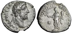 "Ancient Coins - Commodus AR Denarius ""Fortuna, Caduceus, Star"" Rome 192 AD RIC 235 VF"