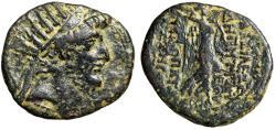 "Ancient Coins - Seleukid Kingdom: Demetrios III Eukairos ""Radiate Portrait & Nike"" Damascus"