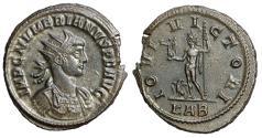 "Ancient Coins - Numerian AE Antoninianus ""IOVI VICTORI Jupiter, Eagle"" Rome RIC 409 nEF"