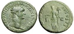 "Ancient Coins - Domitian AE As ""MONETA AVGVSTI Moneta, Deity of Money"" Rome RIC 408 gF Green"