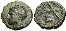 """Ancient Coins - Arkadian League, Megalopolis Trichalkon """"Pan & Monogram Syrinx"""" Rare"""
