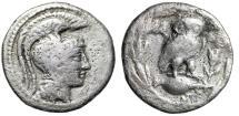 "Ancient Coins - Attica, Athens New Style AR Drachm ""Attic Helmet & Owl, Amphora, Corn"" Rare"
