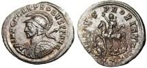 "Ancient Coins - EF Probus AE Ant ""Horseback Figure on Shoulder / Emperor on Horse"" RIC 913 Cyzicus"