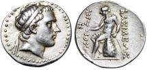 "Ancient Coins - Seleukid Kingdom: Antiochos III The Great AR Tetradrachm ""Bust & Apollo"" VF"