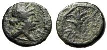 "Ancient Coins - Cilicia, Seleucia ad Calycadnum (?) AE14 ""Artemis & Branch"" Interesting Mystery"