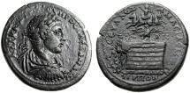 "Ancient Coins - Severus Alexander Medallion 38mm ""Quadriga & Eagle on Altar, Tree"" Pontos Amasia Choice gVF"