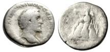 """Ancient Coins - Antoninus Pius AR Drachm """"Mount Argaeus, Figure at Summit"""" Cappadocia, Caesarea"""
