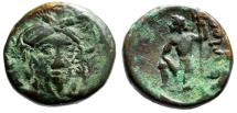 "Ancient Coins - Boeotia, Federal Coinage ""Demeter Facing & Poseidon, Trident"" About VF"