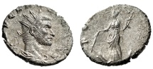 """Ancient Coins - Claudius II Gothicus Silvered Antoninianus """"FORTVNA RED Fortuna"""" Rome RIC 40 EF"""