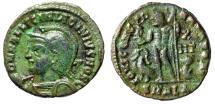 "Ancient Coins - Licinius II Caesar AE18 ""Helmeted Bust & Jupiter"" Alexandria RIC 30 Rare aVF"