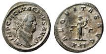 "Ancient Coins - Tacitus Silvered Antoninianus ""Aequitas, XXI"" Rome RIC 82 Good VF"