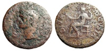 "Ancient Coins - Divus Augustus AE As ""SC Around Bust & Livia Enthroned"" RIC 101 Scarce"