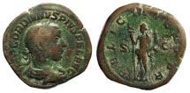 "Ancient Coins - Gordian III AE Sestertius ""FELICIT TEMPOR Felicitas, Caduceus"" 243 AD RIC 328a"