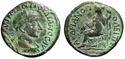 """Ancient Coins - Gordian III AE26 of Hadrianopolis, Thrace """"Demeter Seated"""" Very Rare Variety"""