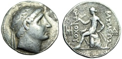 "Ancient Coins - Antiochus I Silver Tetradrachm ""Diademed Bust & Apollo Seated With Arrow & Bow"""
