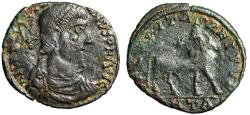"Ancient Coins - Julian II The Apostate Barbarous AE1 ""Bull Standing, Stars"" Imitating Antioch"