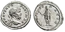 "Ancient Coins - Septimius Severus AR Denarius ""FVNDATOR PACIS Founder of Peace"" RIC 160 aEF"