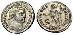 """Ancient Coins - Constantine I The Great Follis """"Jupiter"""" Heraclea RIC Unrecorded Very Rare nEF"""