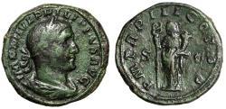 "Ancient Coins - Philip I The Arab AE Sestertius ""Felicitas"" Rome 246 AD Good Fine Green Patina"