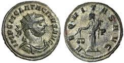 """Ancient Coins - Tacitus Antoninianus """"Aequitas, Scales P"""" Siscia 275 AD Good VF"""