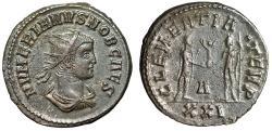 """Ancient Coins - Numerian Caesar Antoninianus """"CLEMENTIA TEMP Clasping Hands, Carus"""" Cyzicus gVF"""