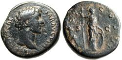 """Ancient Coins - Marcus Aurelius as Caesar AE Sestertius """"Minerva Standing"""" RIC 1248 Scarce"""