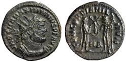 "Ancient Coins - Maximianus Herculius AE Radiate ""Jupiter's Gift of Victory"" Heraclea VF"