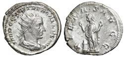 "Ancient Coins - Trebonianus Gallus AR Antoninianus ""PIETAS AVGG Pietas, Raising Hands"" Near EF"