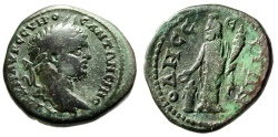 """Ancient Coins - Caracalla AE26 """"Great god of Odessos at Altar"""" Thrace, Odessus Nice Fine"""