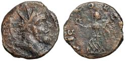 "Ancient Coins - Postumus AE Dupondius (Irregular Gallic Mint) ""Radiate Portrait & Victory"""