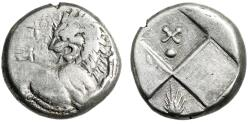 "Ancient Coins - Thrace, Chersonesos AR Hemidrachm ""Forepart Lion & Quadripartite, Grain X"""