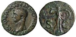 """Ancient Coins - Claudius I AE As """"SC Minerva Hurling Javelin"""" Rome 50-54 AD RIC 116 About VF"""