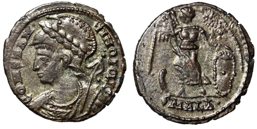 """Ancient Coins - Constantinople Silvered City Commemorative """"Victory"""" Alexandria RIC 64 Scarce"""