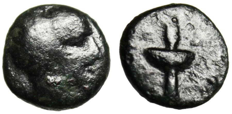 "Ancient Coins - Macedonia, Amphipolis AE11 ""Race Torch"" 410-357 BC"