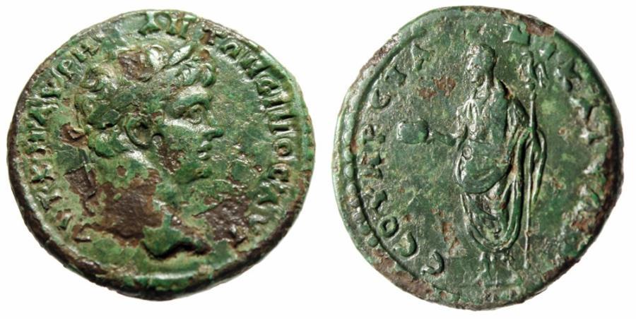 "Ancient Coins - Caracalla AE27 of Nicaea, Bithynia ""Severan Games Issue, Urn"" Very Rare"