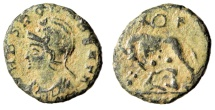 "Ancient Coins - Rome City Commemorative ""VRBS ROMA BEATA / Wolf"" Very Rare Obverse Type RIC 55"
