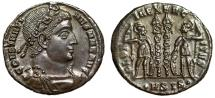 """Ancient Coins - Constantine I The Great """"GLORIA EXERCITVS Soldiers"""" Siscia RIC 235 Near EF"""