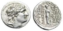 "Ancient Coins - Antiochus VII Eurgetes Silver Tetradrachm ""Athena, Nike"" Cappadocian Near EF"