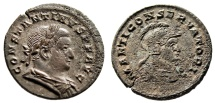"Ancient Coins - Constantine I The Great Follis ""MARTI CONSERVATORI Helmeted Mars Bust"" RIC 877"