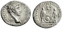 """Ancient Coins - Augustus AR Denarius """"Sons Caius & Lucius Caesars"""" Rome 2BC-5AD VF RIC 208"""