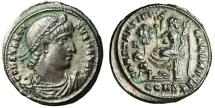 """Ancient Coins - Constantine I The Great AE3 """"CONSTANTINIANA DAFNE Victory Seated"""" Rare VF"""
