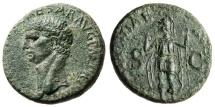 """Ancient Coins - Claudius I AE As """"CONSTANTIAE AVGVSTI Constantia"""" Rome RIC 111 About EF"""